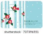 mid winter greetings  japanese... | Shutterstock .eps vector #737396551