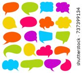 colorful comic speech bubble... | Shutterstock .eps vector #737399134