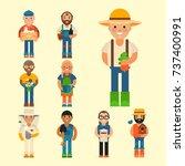 farmer character man...   Shutterstock .eps vector #737400991