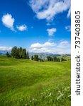 ranch in the valley | Shutterstock . vector #737403805