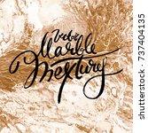 white and golden vector marble... | Shutterstock .eps vector #737404135