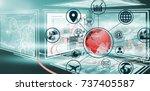 digitally generated image of... | Shutterstock . vector #737405587