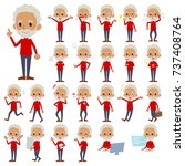 a set of old men with who... | Shutterstock .eps vector #737408764
