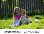 editorial use. children of... | Shutterstock . vector #737409169