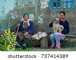 editorial use. people of danube ... | Shutterstock . vector #737414389