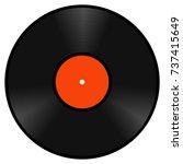 realistic retro vinyl... | Shutterstock .eps vector #737415649