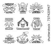 design template of wild west... | Shutterstock .eps vector #737420947
