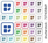 tag component color flat icons... | Shutterstock .eps vector #737435869