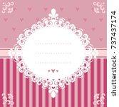 design invitation card in pink...   Shutterstock .eps vector #737437174