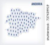 vector people map of andorra .... | Shutterstock .eps vector #737439919