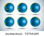 vector 3d globe  10 degree...   Shutterstock .eps vector #73744189