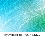 light blue vector indian curved ... | Shutterstock .eps vector #737442229