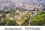 aerial bird's eye view photo... | Shutterstock . vector #737443681