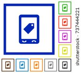 mobile label flat color icons... | Shutterstock .eps vector #737444221