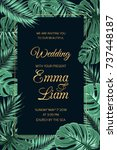 wedding marriage invitation... | Shutterstock .eps vector #737448187