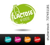 set of lactose free badges.... | Shutterstock .eps vector #737451181