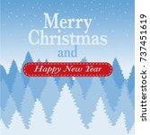 christmas logo  banner  label ... | Shutterstock .eps vector #737451619