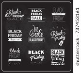 black friday flyers set holiday ... | Shutterstock .eps vector #737453161