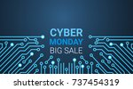 cyber monday big sale poster... | Shutterstock .eps vector #737454319