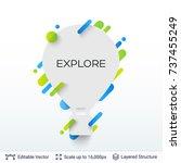 white badge air balloon sticker.... | Shutterstock .eps vector #737455249