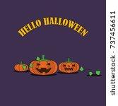 illustration vector pumpkin... | Shutterstock .eps vector #737456611