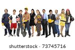crowd or group of different... | Shutterstock . vector #73745716