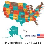 united states   map and flag... | Shutterstock .eps vector #737461651