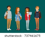 set of young  people with... | Shutterstock .eps vector #737461675