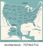 united states map   vintage... | Shutterstock .eps vector #737461711