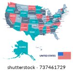 United States Map And Flag  ...