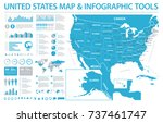 united states map   info...   Shutterstock .eps vector #737461747