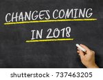 changes coming in 2018 written... | Shutterstock . vector #737463205