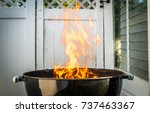 outdoor charcoal barbecue grill.... | Shutterstock . vector #737463367