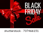 a black friday sale sign with a ... | Shutterstock .eps vector #737466151