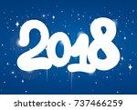 happy new year 2018 design... | Shutterstock .eps vector #737466259