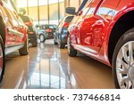 New cars at dealer showroom - stock photo