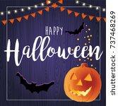 happy halloween illustration... | Shutterstock . vector #737468269
