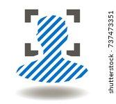 user face fingerprint id... | Shutterstock .eps vector #737473351