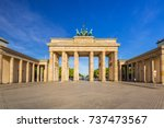 the brandenburg gate in berlin... | Shutterstock . vector #737473567