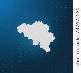 map of belgium. | Shutterstock .eps vector #737475535