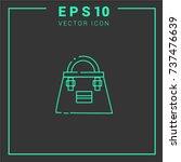 ladies handbag vector icon... | Shutterstock .eps vector #737476639