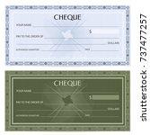 check  cheque   chequebook... | Shutterstock .eps vector #737477257