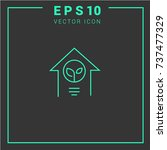 eco related vector line icons. ... | Shutterstock .eps vector #737477329