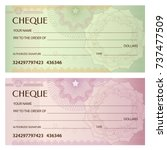 check  cheque   chequebook... | Shutterstock .eps vector #737477509