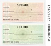 check  cheque   chequebook... | Shutterstock .eps vector #737477575
