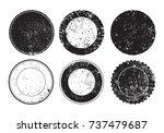 grunge post stamps.vector... | Shutterstock .eps vector #737479687