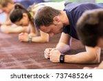 fitness  sport  exercising ... | Shutterstock . vector #737485264