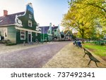 traditional dutch old house...   Shutterstock . vector #737492341