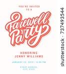 farewell party invitation... | Shutterstock .eps vector #737493544
