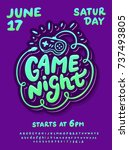 game night. poster template. | Shutterstock .eps vector #737493805
